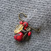 Украшения ручной работы. Ярмарка Мастеров - ручная работа Брошь Осень в алом. Handmade.