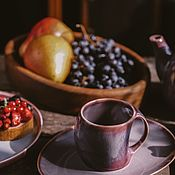 Посуда handmade. Livemaster - original item Mugs and cups: 200 ml mug and saucer. Handmade.