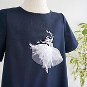 Платье с балериной