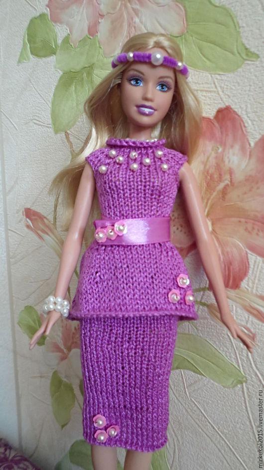 Одежда для кукол ручной работы. Ярмарка Мастеров - ручная работа. Купить Элегантный комплект для Барби. Handmade. Фуксия, одежда для кукол