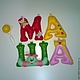 Детская ручной работы. Ярмарка Мастеров - ручная работа. Купить Имя из фетра. Мягкие буквы.. Handmade. Буквы для интерьера, нить