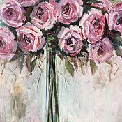 Картины и панно ручной работы. Ярмарка Мастеров - ручная работа Розовый букет. Handmade.