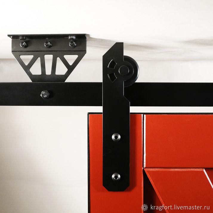 «Флай» - универсальная система потолочного крепления направляющих рельсов для навески амбарных дверей.