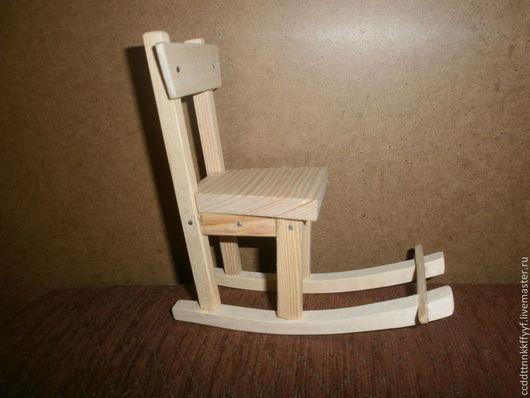 Миниатюра ручной работы. Ярмарка Мастеров - ручная работа. Купить кресло-качалка для кукол. Handmade. Белый, мебель для кукол