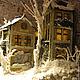 Кукольный дом ручной работы. Ярмарка Мастеров - ручная работа. Купить Городок в чайной коробочке. Handmade. Музыкальная шкатулка, зима
