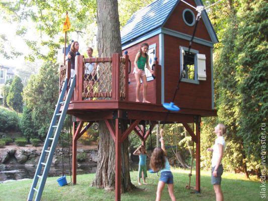 Детский домик на дереве своими руками с фото