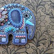 """Украшения ручной работы. Ярмарка Мастеров - ручная работа Брошь """"Нежный слон"""". Handmade."""