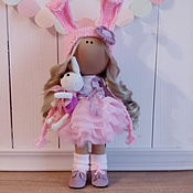 Куклы и игрушки ручной работы. Ярмарка Мастеров - ручная работа Текстильная интерьерная кукла  Лика. Handmade.