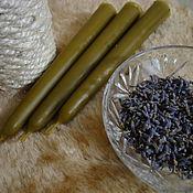 Сувениры и подарки handmade. Livemaster - original item Wax candles with lavender for a good night`s sleep. Handmade.