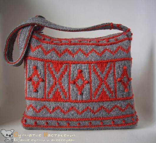Женские сумки ручной работы. Ярмарка Мастеров - ручная работа. Купить сумка вязаная жаккард SIMPLE EMPHASIS яркая. Handmade.