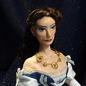 Куклы и игрушки ручной работы. Ярмарка Мастеров - ручная работа Кукла-портрет актрисы Пии Даус в роли Елизаветы Австрийской. Handmade.
