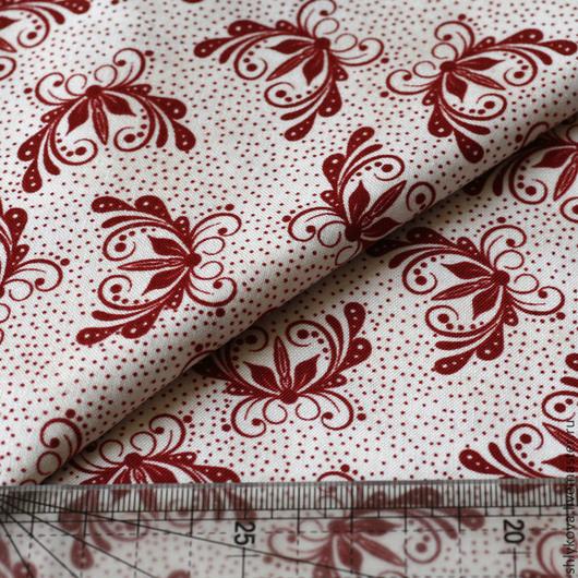 Шитье ручной работы. Ярмарка Мастеров - ручная работа. Купить Ткань для пэчворка.. Handmade. Бордовый, ткань, ткани, ткань для творчества