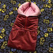 Куклы и игрушки ручной работы. Ярмарка Мастеров - ручная работа Одеяло-конверт для беби борн.. Handmade.