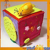 """Куклы и игрушки ручной работы. Ярмарка Мастеров - ручная работа Кубик Развивающий № 5 """"Мышиные истории"""" (из фетра). Handmade."""