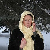 Аксессуары ручной работы. Ярмарка Мастеров - ручная работа шарф капюшон вязаный женский. Handmade.