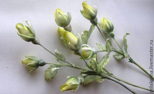 Цветы ручной работы. Ярмарка Мастеров - ручная работа. Купить Интерьерные бутоны роз из шёлка.. Handmade. Желтый, шёлк натуральный