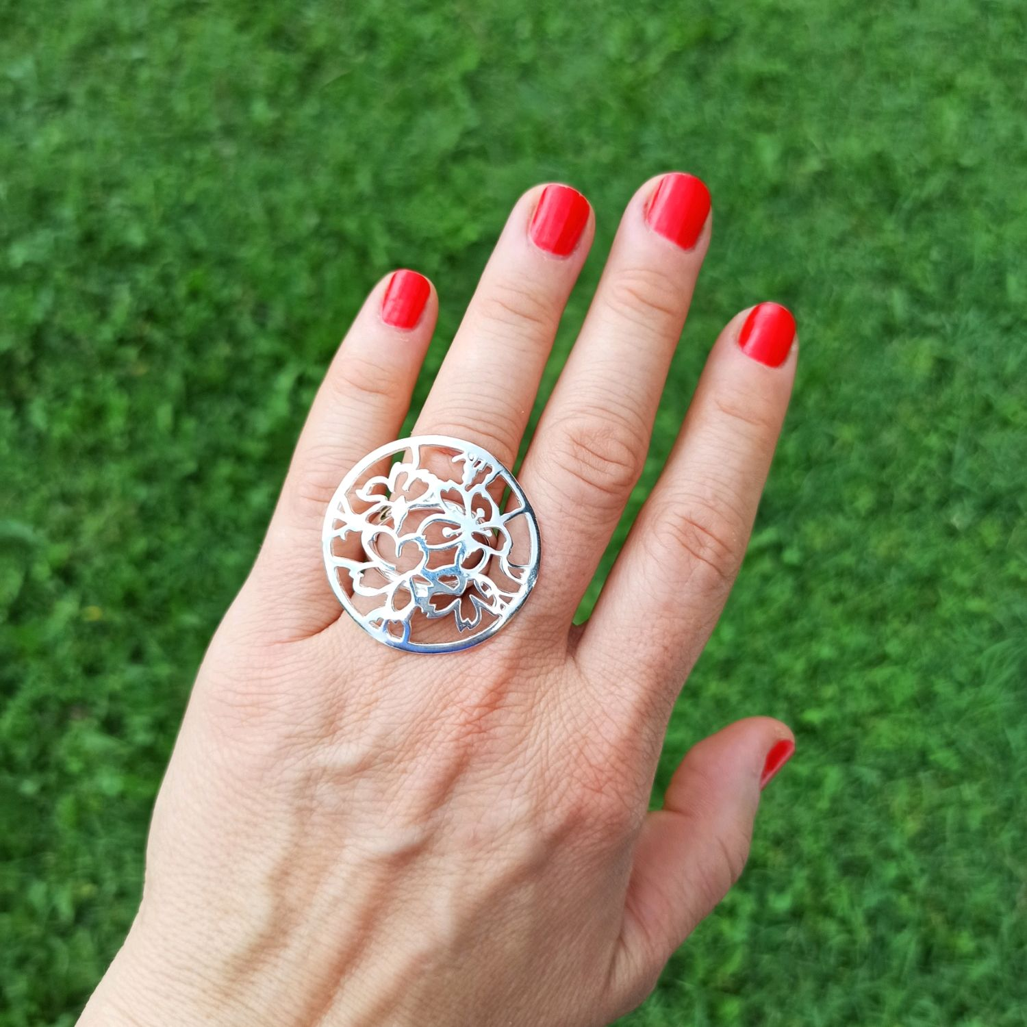 Elegant summer ring with a floral motif. Big jewelry, Rings, Turin,  Фото №1
