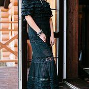 """Одежда ручной работы. Ярмарка Мастеров - ручная работа Платье """"Вечерний шик"""", оборки, кружево. Handmade."""