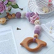 Куклы и игрушки handmade. Livemaster - original item Teether-teething toy clip-on
