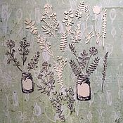 Материалы для творчества handmade. Livemaster - original item !Cutting for scrapbooking-SET MEADOW GRASS, diz cardboard. Handmade.