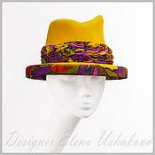 Аксессуары handmade. Livemaster - original item Hat. hat. To buy Fedora hat. Woman`s hat of felt.. Handmade.