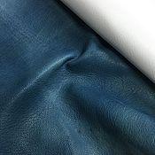 Кожа ручной работы. Ярмарка Мастеров - ручная работа Шевро Натуральная  Итальянская кожа галантерейная синяя. Handmade.