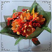 """Цветы и флористика ручной работы. Ярмарка Мастеров - ручная работа Букет из конфет """"Хризантемы"""". Handmade."""