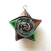 """Для дома и интерьера ручной работы. Ярмарка Мастеров - ручная работа Брелок """"Светлячок"""" - Origami - Irish Style Metallic. Handmade."""