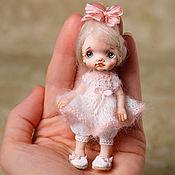 Куклы и игрушки handmade. Livemaster - original item Miniature doll 9cm. made of polymer clay. Handmade.