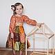 """Одежда для девочек, ручной работы. Заказать Платье для девочки """"Корица"""". Валерия Селезнёва (Утица). Ярмарка Мастеров. Платье для девочки, оранжевый"""