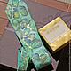 Галстуки, бабочки ручной работы. Ярмарка Мастеров - ручная работа. Купить галстук Золотые бабочки. Handmade. Синий, Аксессуары handmade