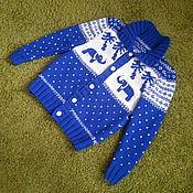 Одежда handmade. Livemaster - original item Knitted cardigan men`s