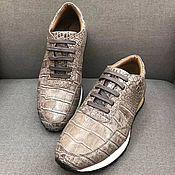 Обувь ручной работы handmade. Livemaster - original item Sneakers made of crocodile skin, in exclusive paint, unisex model.. Handmade.