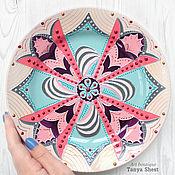 Посуда handmade. Livemaster - original item Decorative plate No. №3 from the series
