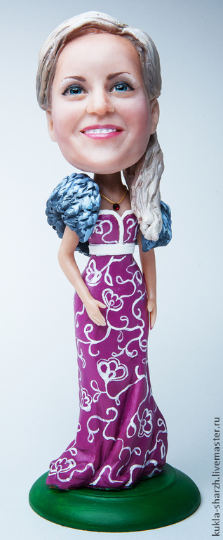 """Персональные подарки ручной работы. Ярмарка Мастеров - ручная работа. Купить Кукла шарж """"Конфетка"""". Handmade. Подарок, эксклюзив"""