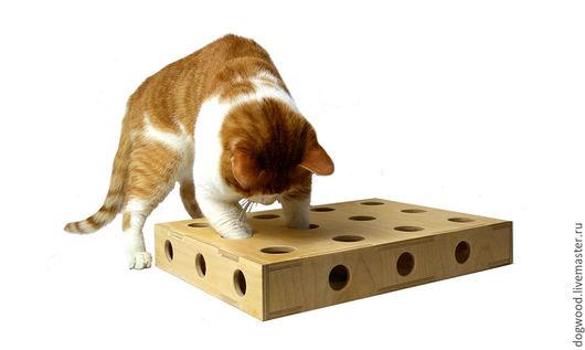 Аксессуары для кошек, ручной работы. Ярмарка Мастеров - ручная работа. Купить Коробка с шариками для кошек. Handmade. Бежевый, игрушка для кота