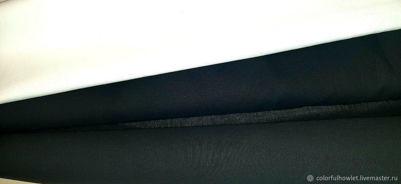 Однотонный черный и белый 100% хлопок бязь премиум ГОСТ, Ткани, Иваново,  Фото №1
