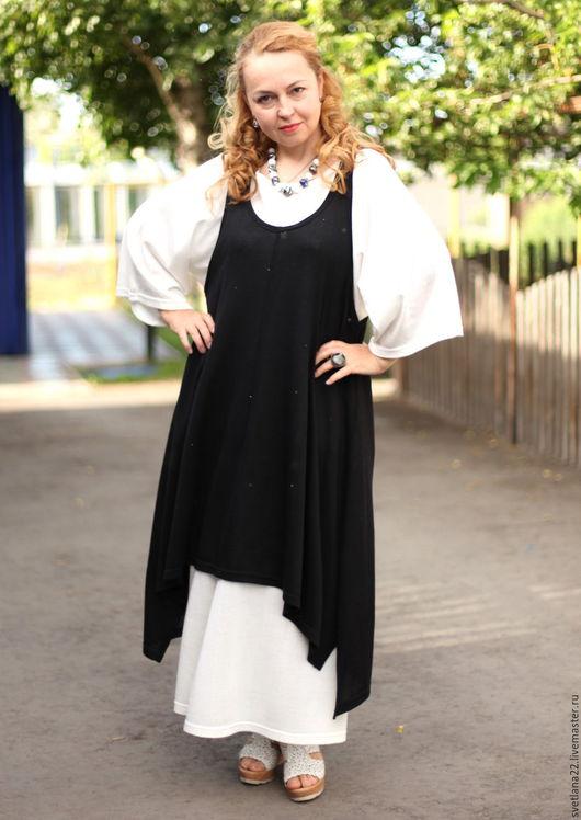 Платья ручной работы. Ярмарка Мастеров - ручная работа. Купить Летний бохо сарафан в черном цвете. Handmade. Черный