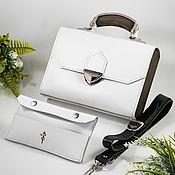 Сумки и аксессуары handmade. Livemaster - original item White bag with wood - Elin, women`s leather bag. Handmade.