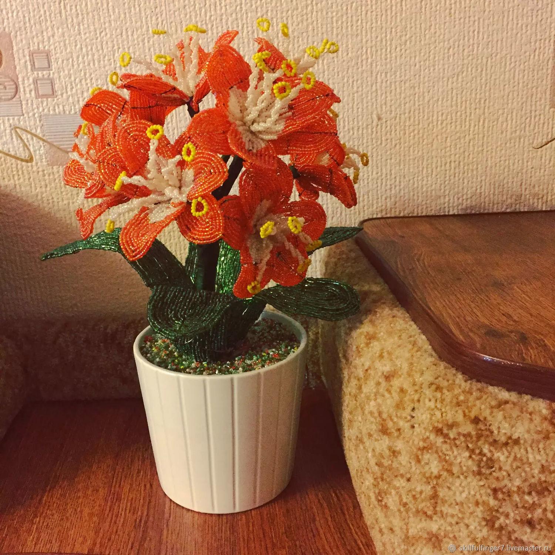 Букет, купить цветы из бисера на авито