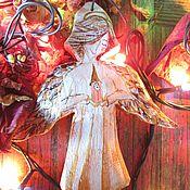 Подарки к праздникам ручной работы. Ярмарка Мастеров - ручная работа Ангел в золотом и Ангел в голубом.. Handmade.