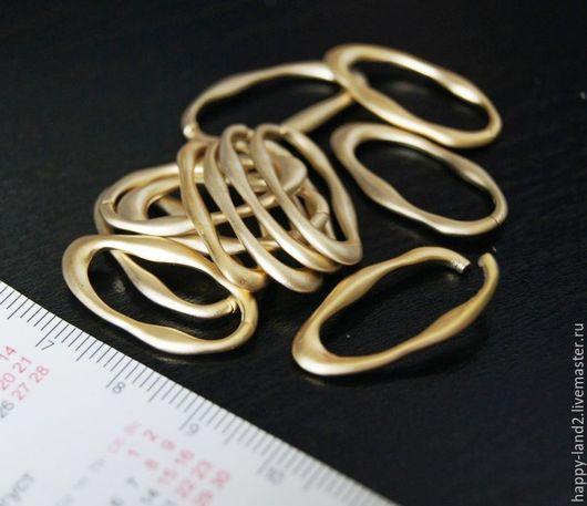 Для украшений ручной работы. Ярмарка Мастеров - ручная работа. Купить Кольцо оригинальное овал крупный, разъемное. Handmade. Колечки