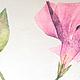 Картины цветов ручной работы. Ярмарка Мастеров - ручная работа. Купить Periwinkle или Барвинок победительный. Handmade. Сиреневый