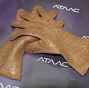 Перчатки ручной работы. Ярмарка Мастеров - ручная работа Перчатки коричневые. Handmade.