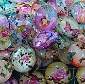 Кабошоны ручной работы. Ярмарка Мастеров - ручная работа Кабошоны стекло 25мм Набор из 10шт Кабошон. Handmade.
