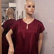 Платья ручной работы. Ярмарка Мастеров - ручная работа Вечерний комплект цвета марсала. Handmade.