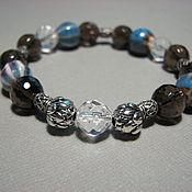 Украшения handmade. Livemaster - original item Bracelet with rauch topaz, rock crystal
