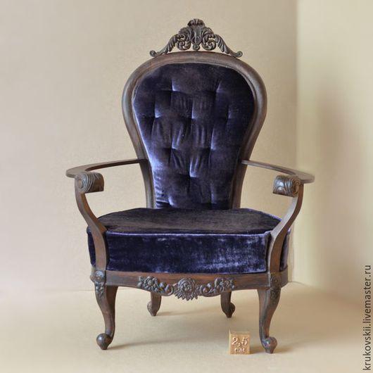 Кукольный дом ручной работы. Ярмарка Мастеров - ручная работа. Купить Мебель для кукол. Кресло в стиле арт-деко. Handmade.