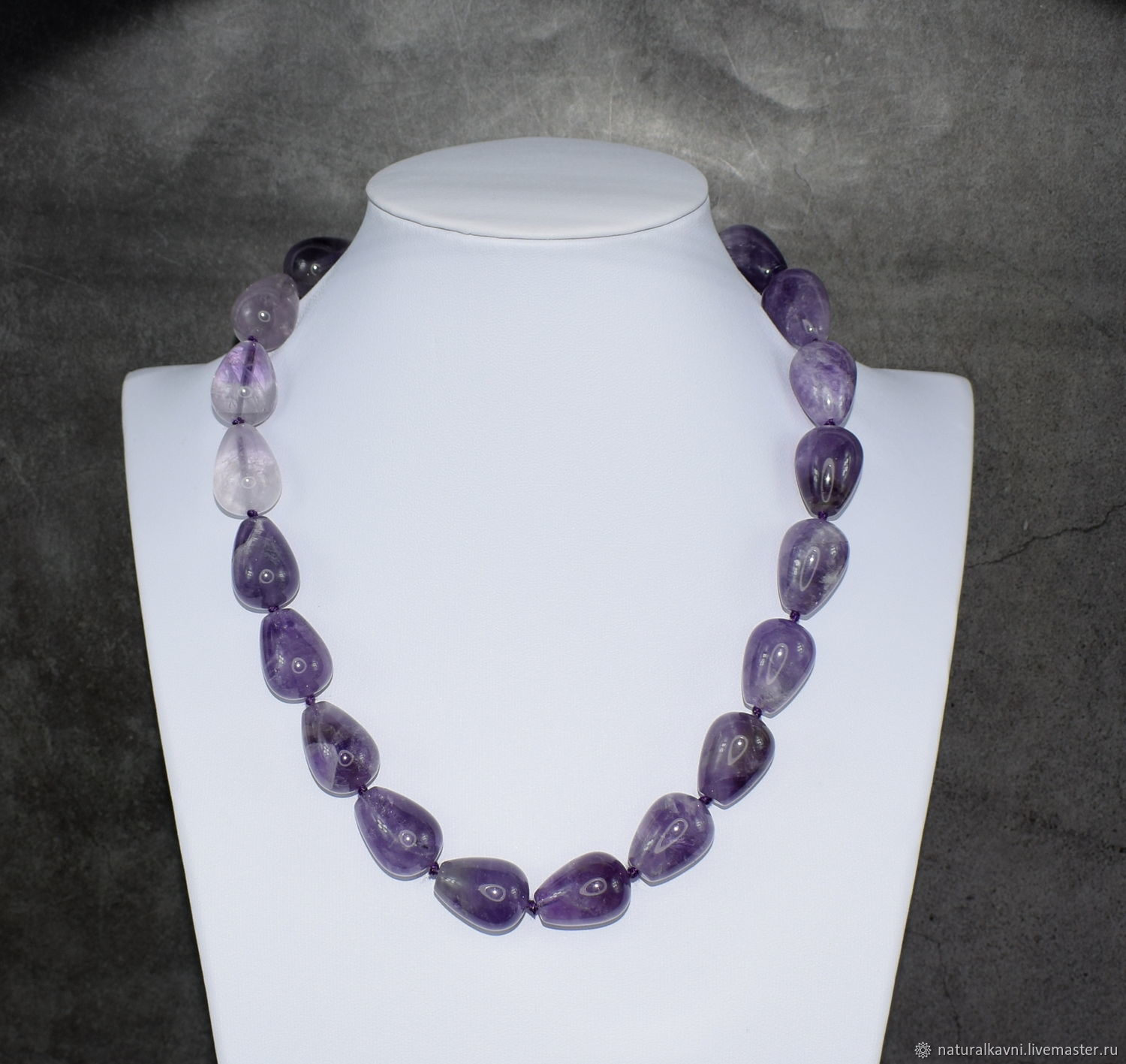 Delicate beads drops natural lavender amethyst, Beads2, Moscow,  Фото №1
