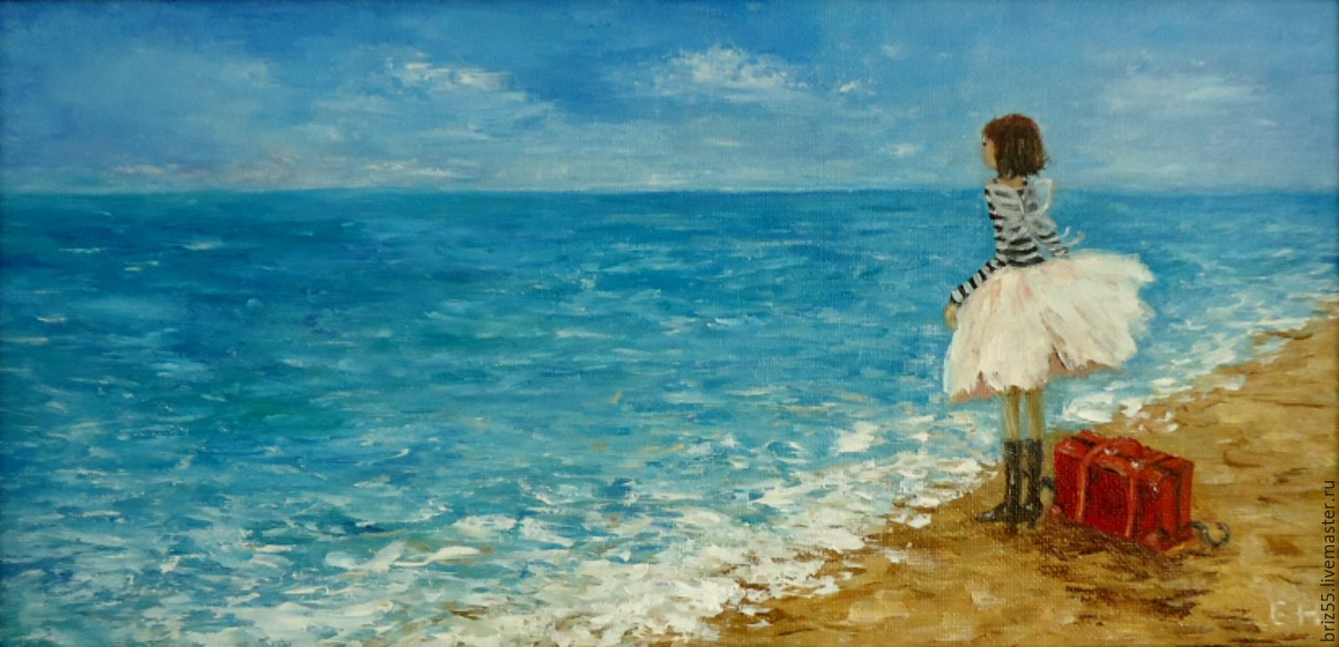 Oil painting the Dream of the sea, Pictures, Zelenograd,  Фото №1